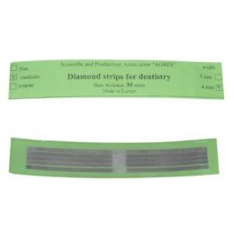 Diamantové kovové leštící pásky 5ks střední
