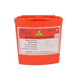 Jednorázový kontejner na ostrý lékařský odpad objem 0.25l