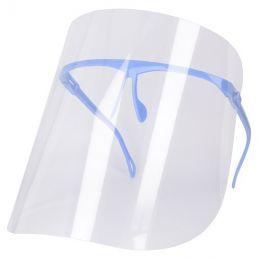 Ochranný štít na obličej s nastavením rámu modrá typ 2
