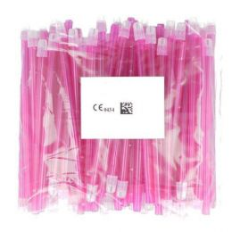 Odsavače vylučovací slin 100ks růžové