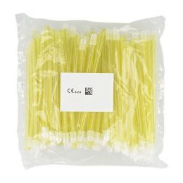 Odsavače vylučovací slin 100ks žluté