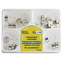 Transparentní obrysové matrice set 16 ks pro premoláry