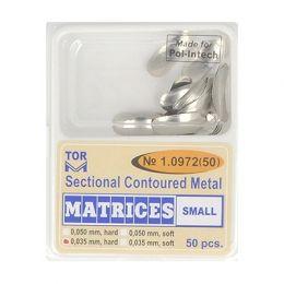 Zubní profilované matrice 50ks malé 0.035mm hard