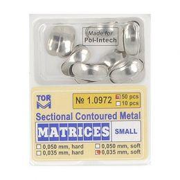 Zubní profilované matrice 50ks malé 0.035mm soft