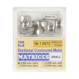 Zubní profilované matrice 50ks malé 0.050mm hard