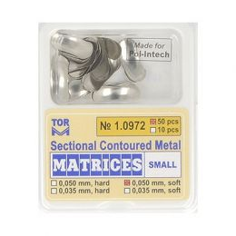 Zubní profilované matrice 50ks malé 0.050mm soft