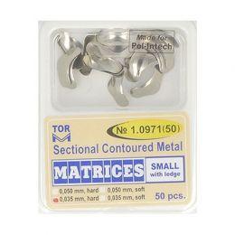 Zubní profilované matrice 50ks malé s hranou 0.035mm hard