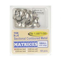 Zubní profilované matrice 50ks malé s hranou 0.050mm hard