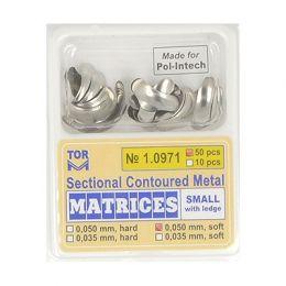 Zubní profilované matrice 50ks malé s hranou 0.050mm soft