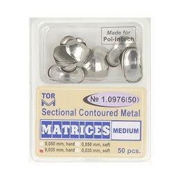 Zubní profilované matrice 50ks střední 0.035mm hard