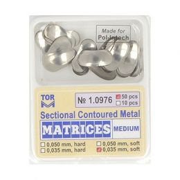 Zubní profilované matrice 50ks střední 0.035mm soft