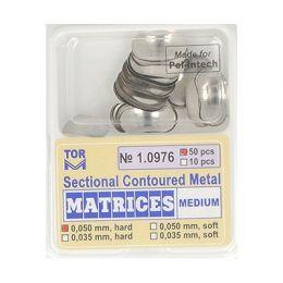 Zubní profilované matrice 50ks střední 0.050mm hard