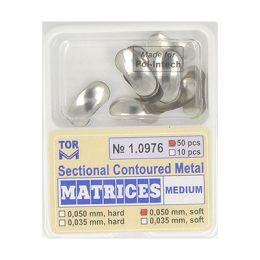 Zubní profilované matrice 50ks střední 0.050mm soft