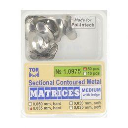 Zubní profilované matrice 50ks střední s hranou 0.035mm hard