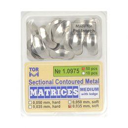 Zubní profilované matrice 50ks střední s hranou 0.035mm soft