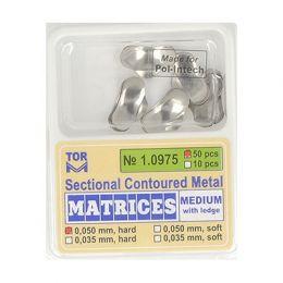 Zubní profilované matrice 50ks střední s hranou 0.050mm hard