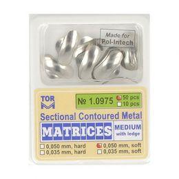Zubní profilované matrice 50ks střední s hranou 0.050mm soft