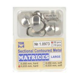 Zubní profilované matrice 50ks velké 0.035mm hard