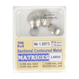 Zubní profilované matrice 50ks velké 0.035mm soft