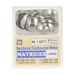 Zubní profilované matrice 50ks velké 0.050mm hard