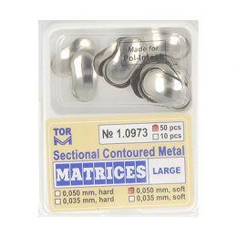 Zubní profilované matrice 50ks velké 0.050mm soft