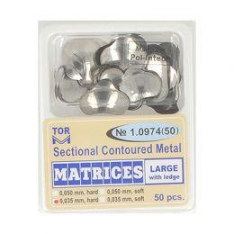 Zubní profilované matrice 50ks velké s hranou 0.035mm hard