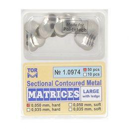 Zubní profilované matrice 50ks velké s hranou 0.050mm hard