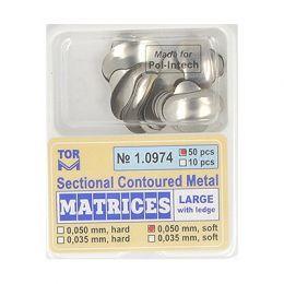 Zubní profilované matrice 50ks velké s hranou 0.050mm soft
