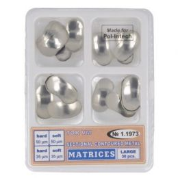 Zubní profilované matrice sestava mix 30ks velké